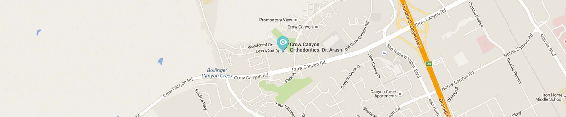 Map Crow Canyon Orthodontics San Ramon CA